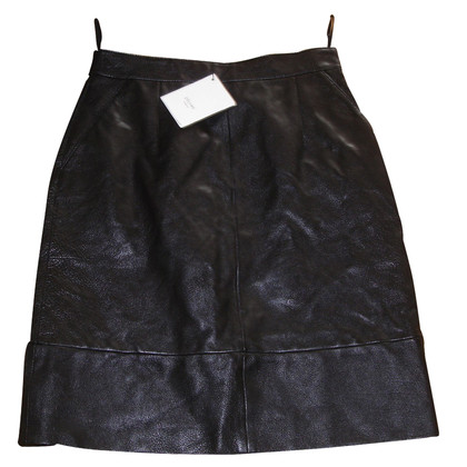 Céline XS leather skirt 34 buffs black