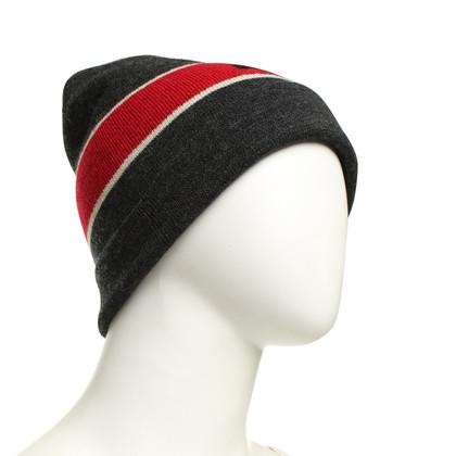 Isabel Marant Etoile Cap in Grijs / rood / wit