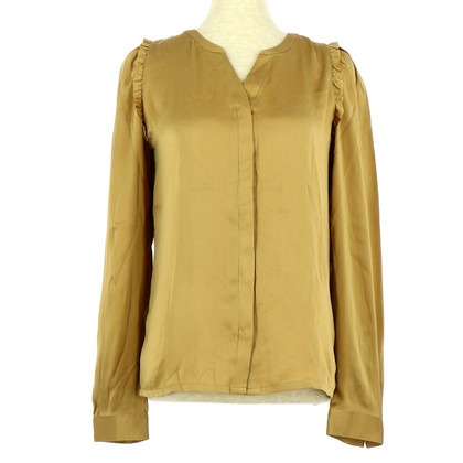 Maje Bluse in Goldfarben