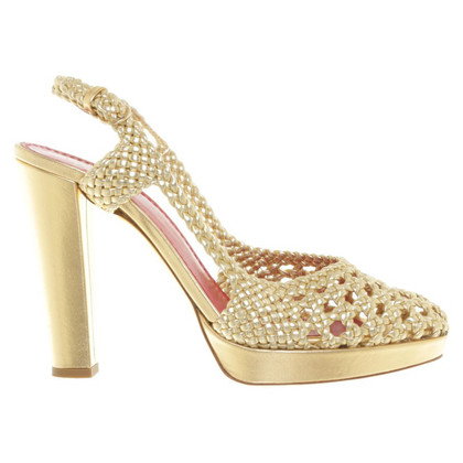 Moschino Cheap and Chic Gold colored pumps