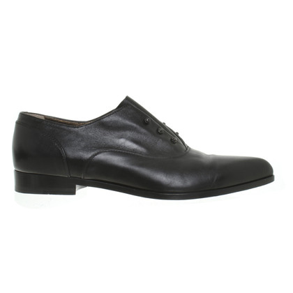 Lanvin chausson en cuir noir