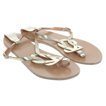 Ancient Greek Sandals Sandali in oro