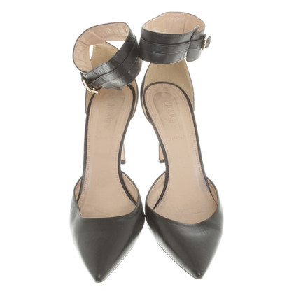 J. Crew Lederen pumps in zwart