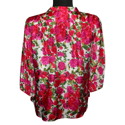 Velvet Silk blouse with Rosenprint