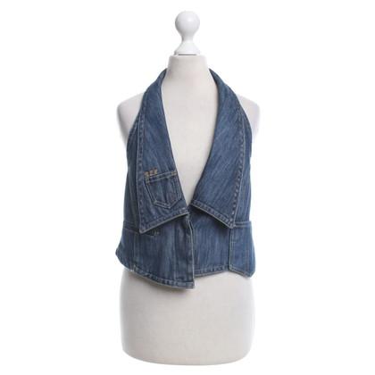 Patrizia Pepe Jeans-top in blu