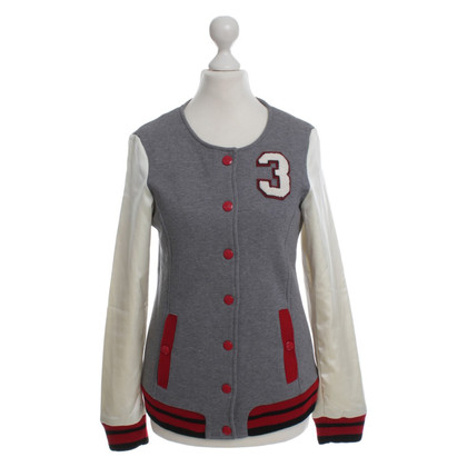 Moschino Love College jacket in grey/cream
