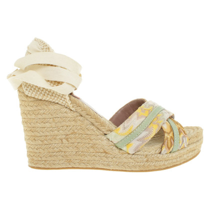 Missoni Wedges with pattern mix