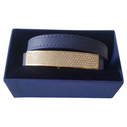 Swarovski Leather bracelet in blue