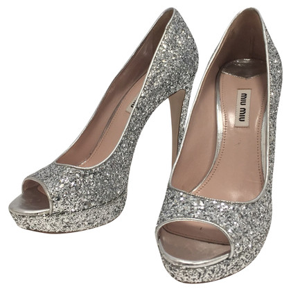 Miu Miu Glittered pumps