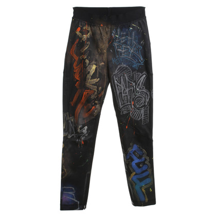 Faith Connexion Pantaloni in pelle con stampa