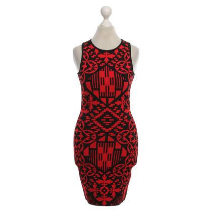 Alexander McQueen Mini jurk met geometrische patroon