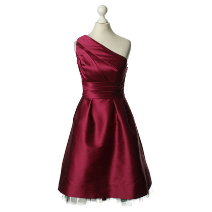 Monique Lhuillier One-shoulder dress in Fuchsia