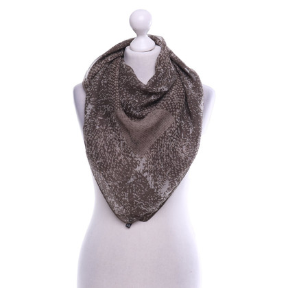 Basler Silk scarf in olive green
