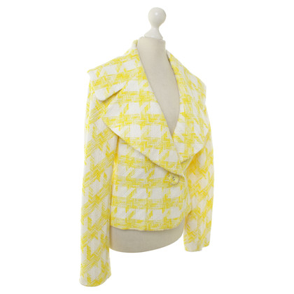 Escada Jacket in yellow/white