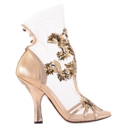 Dolce & Gabbana RUNWAY pumps Baroque style gold