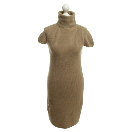 Loro Piana Short knitted dress in beige