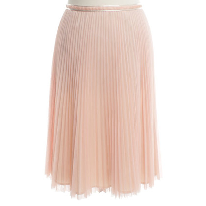 Turnover Pleated skirt in pink