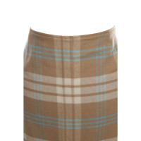 Escada Maxi skirt with plaid pattern