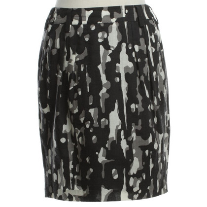 Strenesse Blue Wool skirt with Camouflageprint