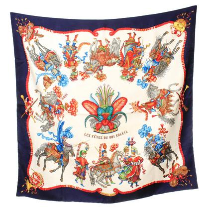 Hermès Tuch Les Fete Du Roi Soleil in Blau