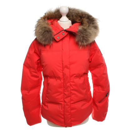 Jet Set Coral red down jacket