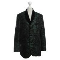 Jean Paul Gaultier Changierende Jacke in Grün/Schwarz