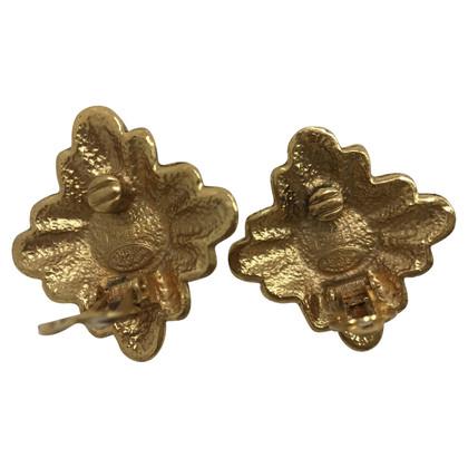 Chanel Grandi orecchini vintage metallo dorato