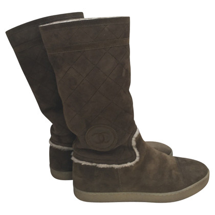 Chanel Winter boots in khaki