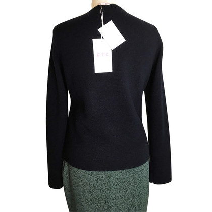 FTC Cashmere cardigan in leather