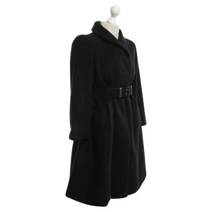 Balenciaga Wollen jas in zwart