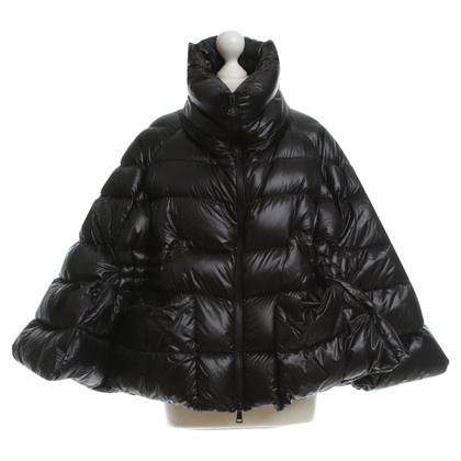 Moncler Feather Poncho in black