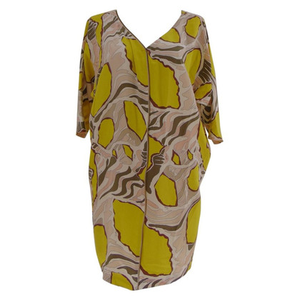 Emilio Pucci Emilio Pucci yellow multi zip dress