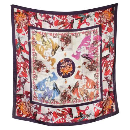 Erdem Zijden sjaal met patroon