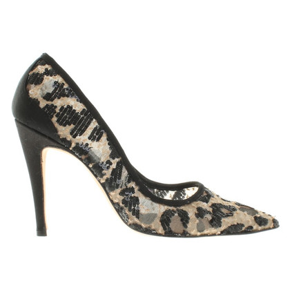 Manolo Blahnik pumps with leopard pattern