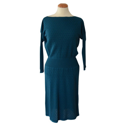 Missoni Petrolfarbenes Kleid aus Strick