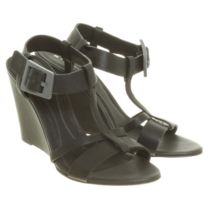 Boss Orange Wedge sandals in black