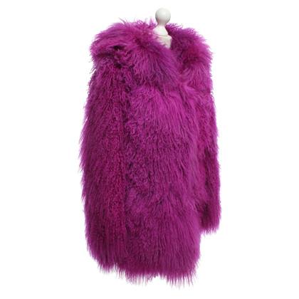 Versus Manteau fait de la vraie fourrure