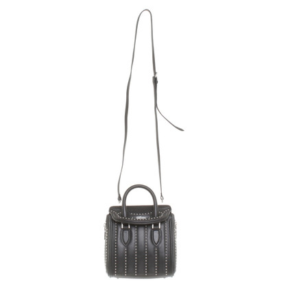 Alexander McQueen '' Heroine Mini Bag '' in nero