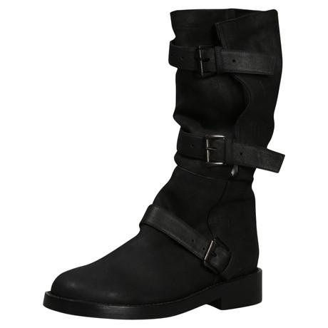 Ann Demeulemeester Black buckle Boots Schwarz Kosten Aw4lC