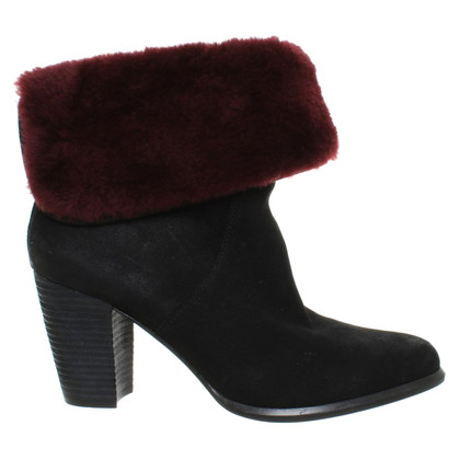 Ugg Ankle boots with woven fur brim