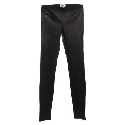 Helmut Lang pantaloni di pelle nera
