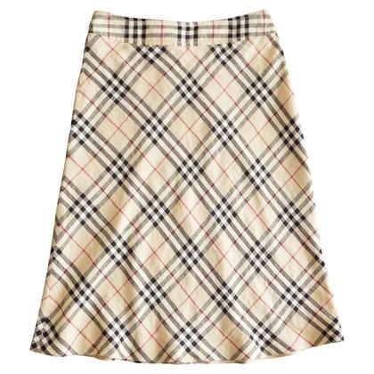 Burberry gonna di lino con motivo scozzese