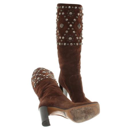 Dolce & Gabbana Stiefel aus Wildleder Braun Professionel Freies Verschiffen Neue Billig Verkaufen Kaufen 6HBVMt8
