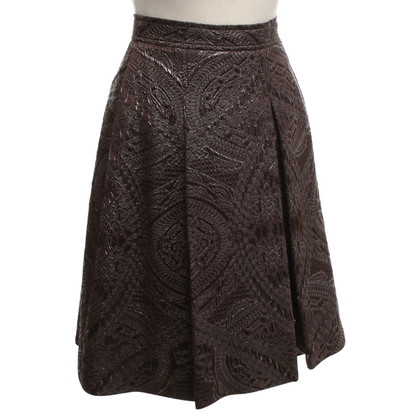 Thomas Rath Pleated skirt in brown