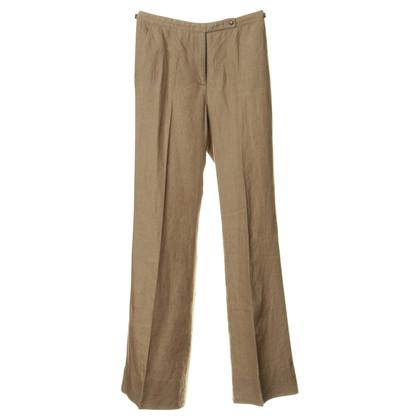 Balenciaga Linen trousers in green