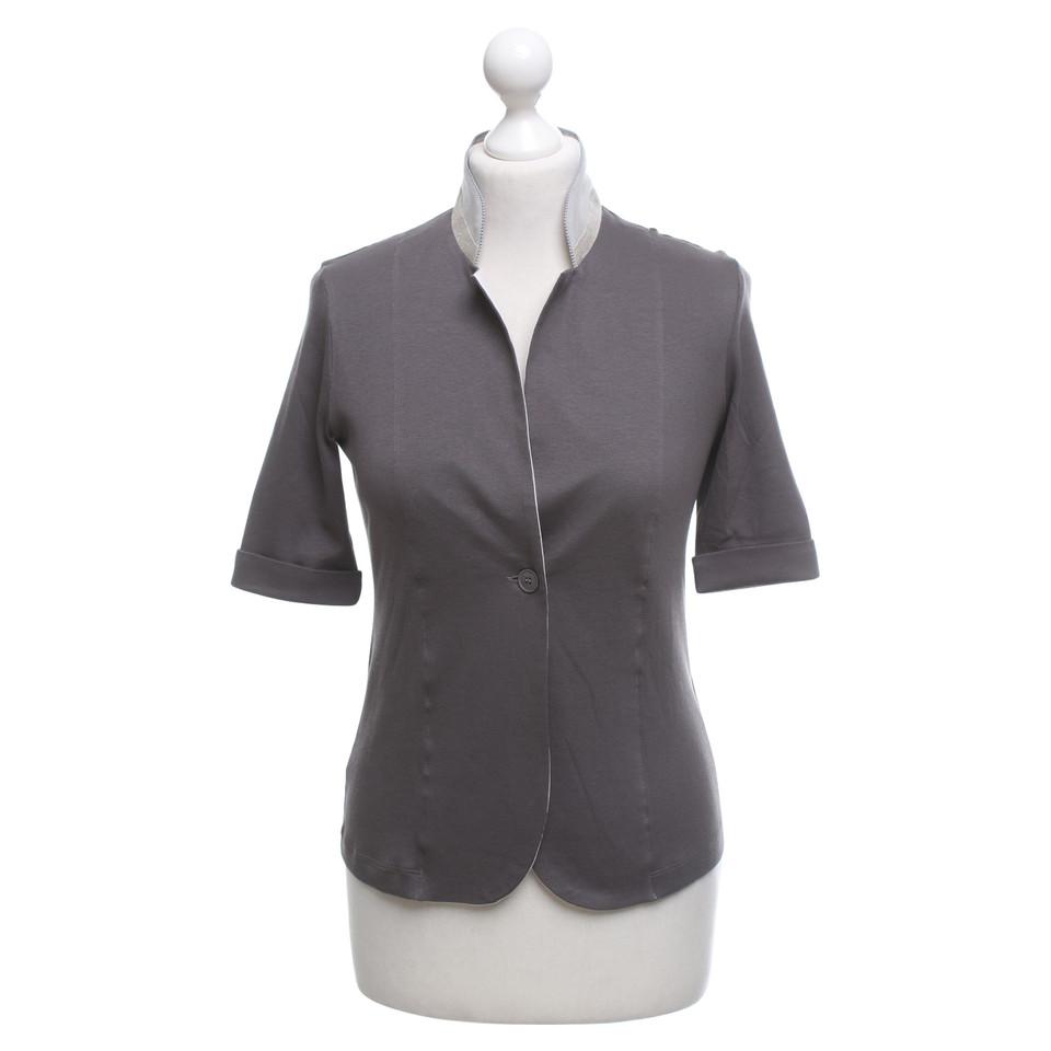 fabiana filippi jersey blazer in grau second hand fabiana filippi jersey blazer in grau. Black Bedroom Furniture Sets. Home Design Ideas