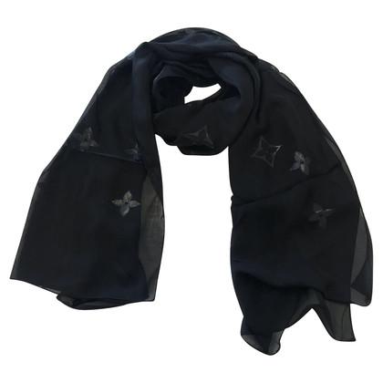 Louis Vuitton silk scarf in black