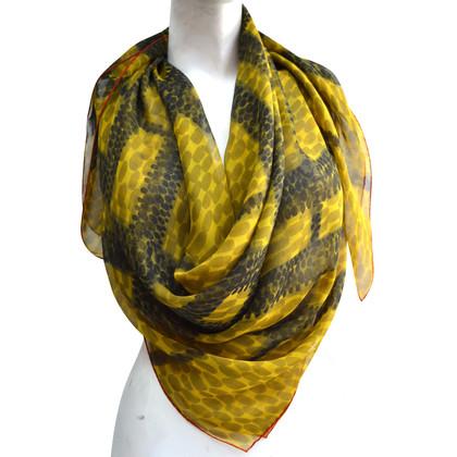 Burberry sciarpa di chiffon di seta con motivo a quadri