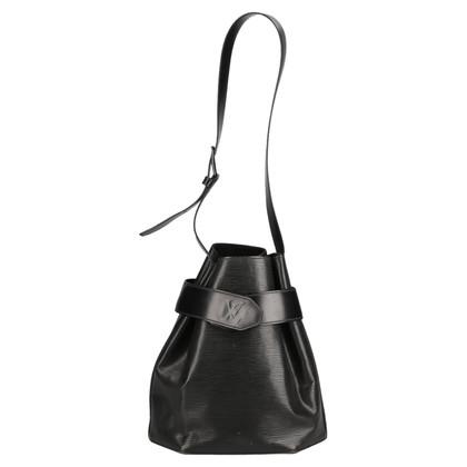 Louis Vuitton Sac D'Epaule Epi Leather Black