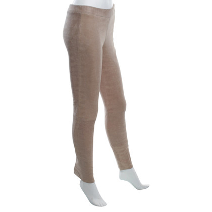 Arma leggings in pelle di agnello in Beige